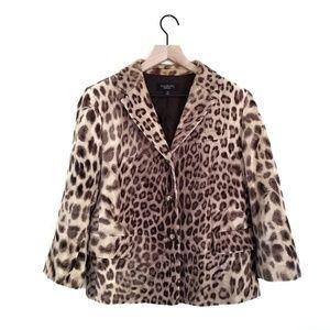 Talbots Leopard Cheeta Animal Print Blazer
